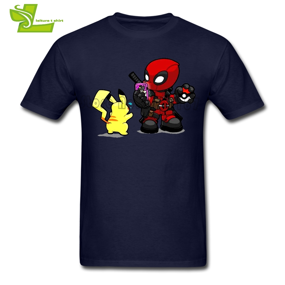 Deadpool Es GEHEN Zeit Pokemon Männlichen T Tragen Übung Lose T-Shirt männer Sommer T-shirt Jungs Neueste einzigartige Kleidung
