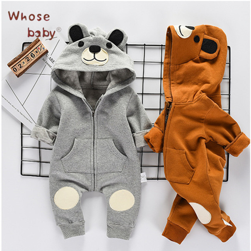 2017 Autumn Baby Girl Clothes Newborn Boys Romper Cute Bear Clothes For Children Infant Girls Jump Suit Baby Boy Body Suits