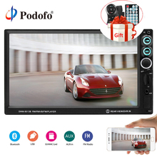 "Podofo Auto Radio 7 ""HD Lettore Multimediale Autoradio 2din Touch Screen Auto audio Stereo MP5 Bluetooth AUX USB TF FM Specchio Link"