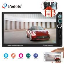 """Podofo Auto Radio 7 """"HD Lettore Multimediale Autoradio 2din Touch Screen Auto audio Stereo MP5 Bluetooth AUX USB TF FM Specchio Link"""