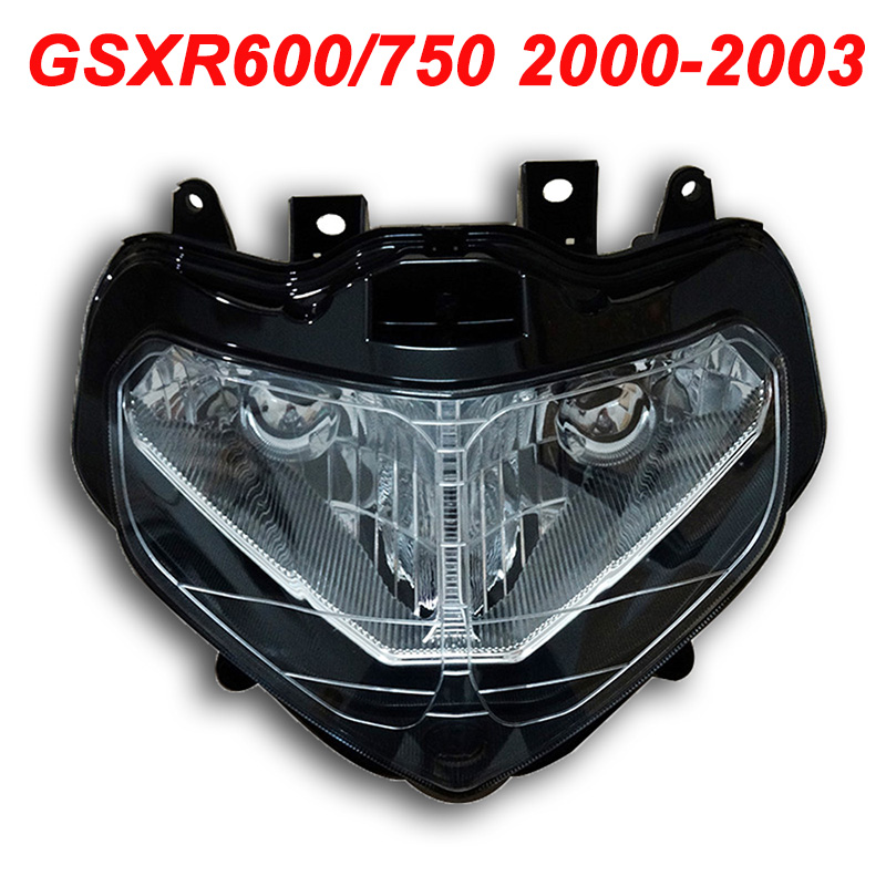 For 00-03 <font><b>Suzuki</b></font> GSXR600 GSXR750 <font><b>GSXR</b></font> 600 <font><b>750</b></font> Motorcycle Front Headlight Head Light Lamp Headlamp CLEAR 2000 2001 2002 2003 image