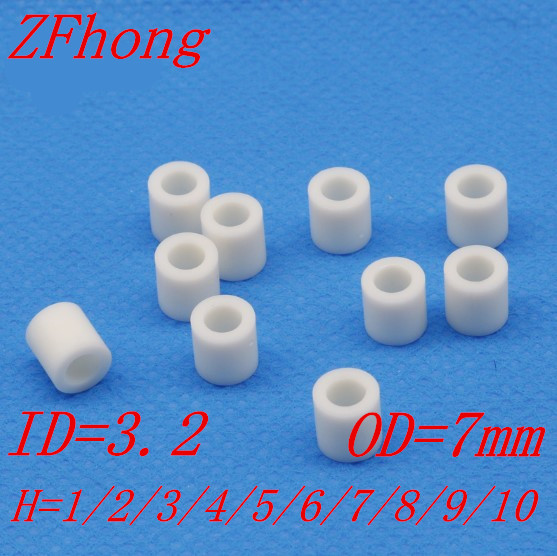 1000 pcs/lot m3 entretoise ronde en Nylon ABS blanc/entretoise ronde M3 * L longueur (L) = 2 ~ 10mm ID = 3.2 OD = 71000 pcs/lot m3 entretoise ronde en Nylon ABS blanc/entretoise ronde M3 * L longueur (L) = 2 ~ 10mm ID = 3.2 OD = 7
