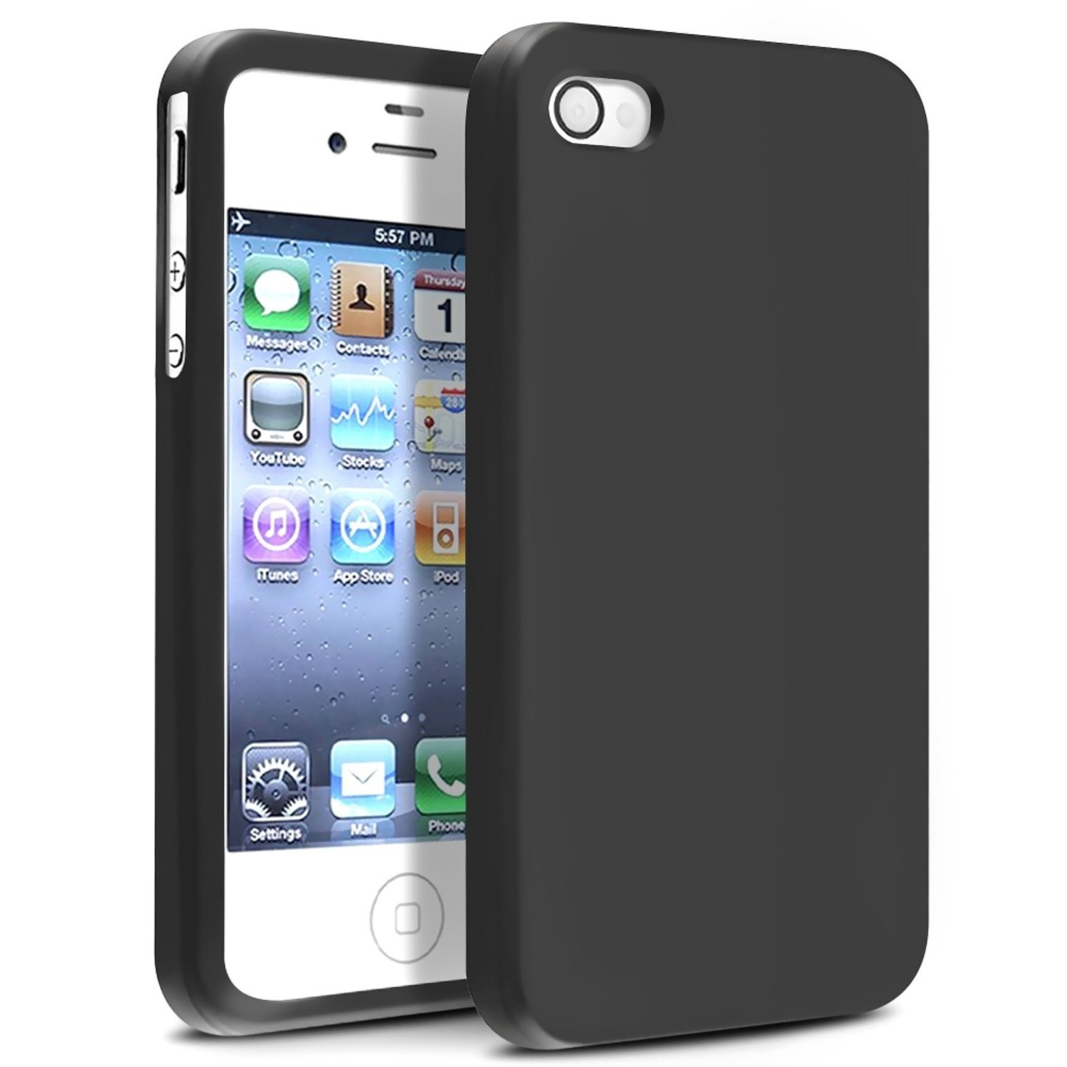 check out 33fd5 4fa90 US $2.18 25% OFF|BIBIBALL For iphone 4 4S Case Business Shockproof case For  iphone 4 Case Soft TPU Silicone Phone Protective Cover i4 black-in Phone ...