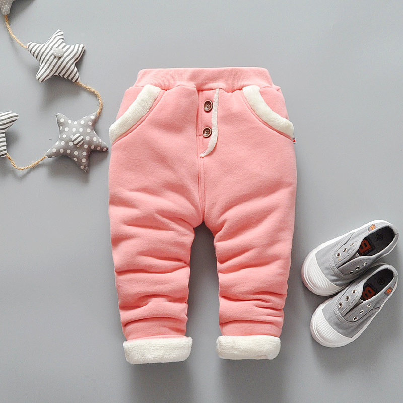 BibiCola 2017 New Baby Warm Pants Baby Boys Fleece Trousers Baby Girls Winter Pants Children Casual Trousers baby coral fleece long pants newborn warm clothes autumn and winter boys and girls trousers