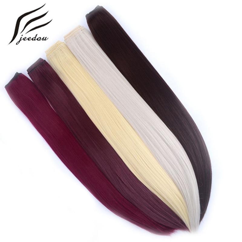 Pinza para el cabello recta de una pieza jeedou en extensiones de - Cabello sintético