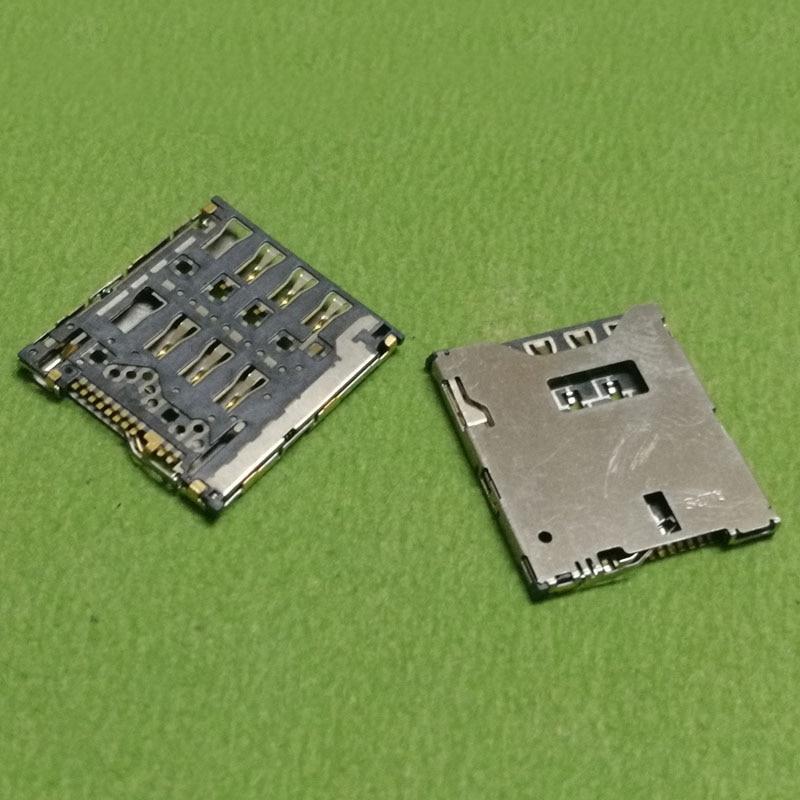 2pcs sim card reader slot tray module holder connector for HTC ONE S Z520E 8S A620E A620D A620T z560e t528W t528t t528d socket