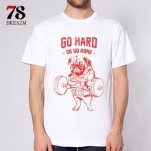 Go Hard Or Go Home French Bulldog Weightlifting mens t shirts quality fashion short sleeve men tshirt men's tee tops men T-shirt