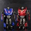 10 cm Liga Transformação Toy Action Figure, Modelo de Carro Escala 1:43 Homem de Ferro Hulk Cartain, Brinquedos transformação, Brinquedos dos miúdos