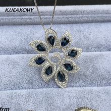 KJJEAXCMY boutique jewelry,Natural Shandong Sapphire Phoenix Women Pendant 925 silver inlaid high quality sapphire high quality round brilliant cut sapphire loose stone gic certificate sapphire loose gemstone from sapphire mine in china