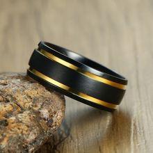 Рекомендуемые Модные мужские кольца из нержавеющей стали черного