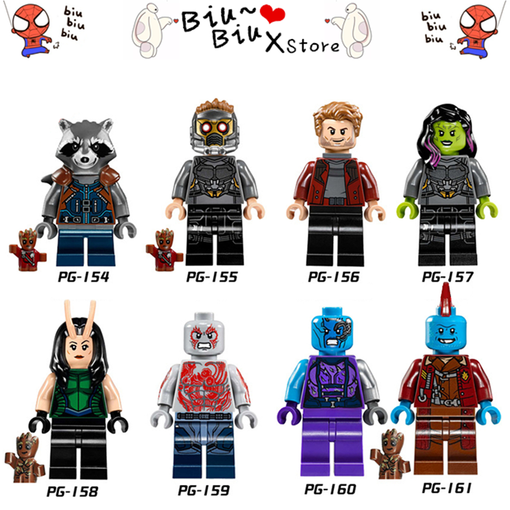 New style 8/Style Superhero series movie Action Figure Toy Building Block Compatible wit ...