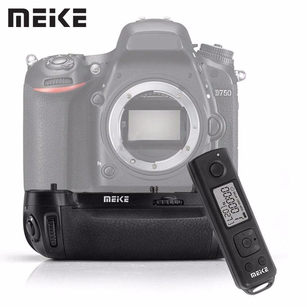 Meike MKDR750 MK-DR750 Built-in 2.4G Wireless Remote Control Vertical Battery Grip Holder for Nikon D750 meike mk 760d pro built in 2 4g wireless control battery grip suit for canon 750d 760d as bg e18