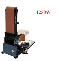 חדש חם 1250W אנכי אופקי שימוש כפול חגורת חול מכונת טחינת ליטוש מכונת 220v 610 m/min 2500 r/min (150*1220mm)-במלטשות מתוך כלים באתר