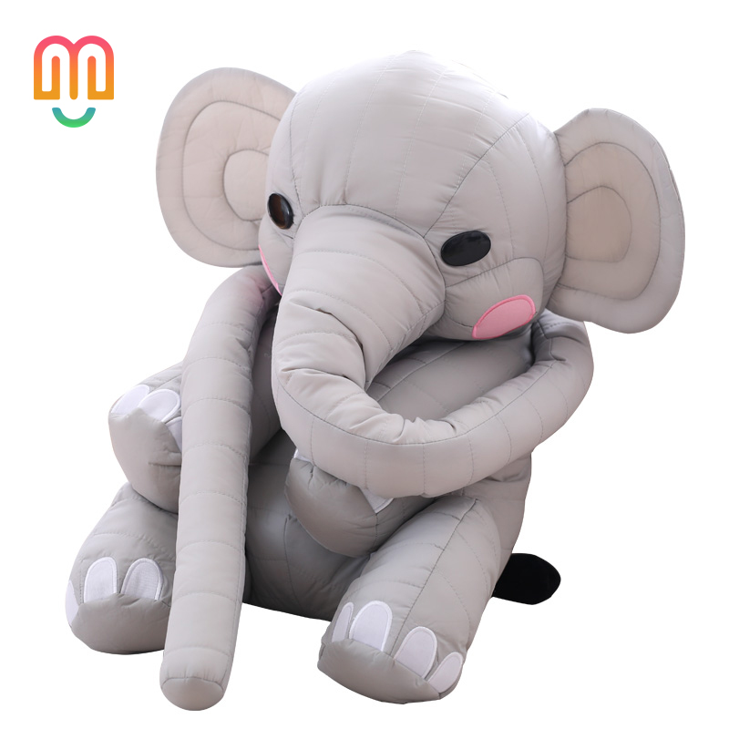 Vanmajor Super Long Nose Elephant Plush Toy Soft Stuffed Plush Elephant Pillow Baby breast feeding Pillow Gifts for girlfriend