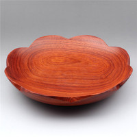 Vietnamese mahogany fruit plate, Burma rosewood snacks, confectionery plate, solid wood circular dried handicraft ornaments.