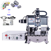 4 Axis CNC 3020 Mini Router 4axis Engraving Machine Ball Screw 300W Spindle Motor For Woodworking PCB Drilling