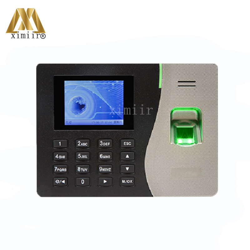 Free Shipping TCP/IP Biometric Fingerprint Time Attendance 3 Color Screen Linux System Network ZK PT600 Fingerprint Time Clock k14 zk biometric fingerprint and rfid card time attendance tcp ip linux system time clock time recorder spanish language support
