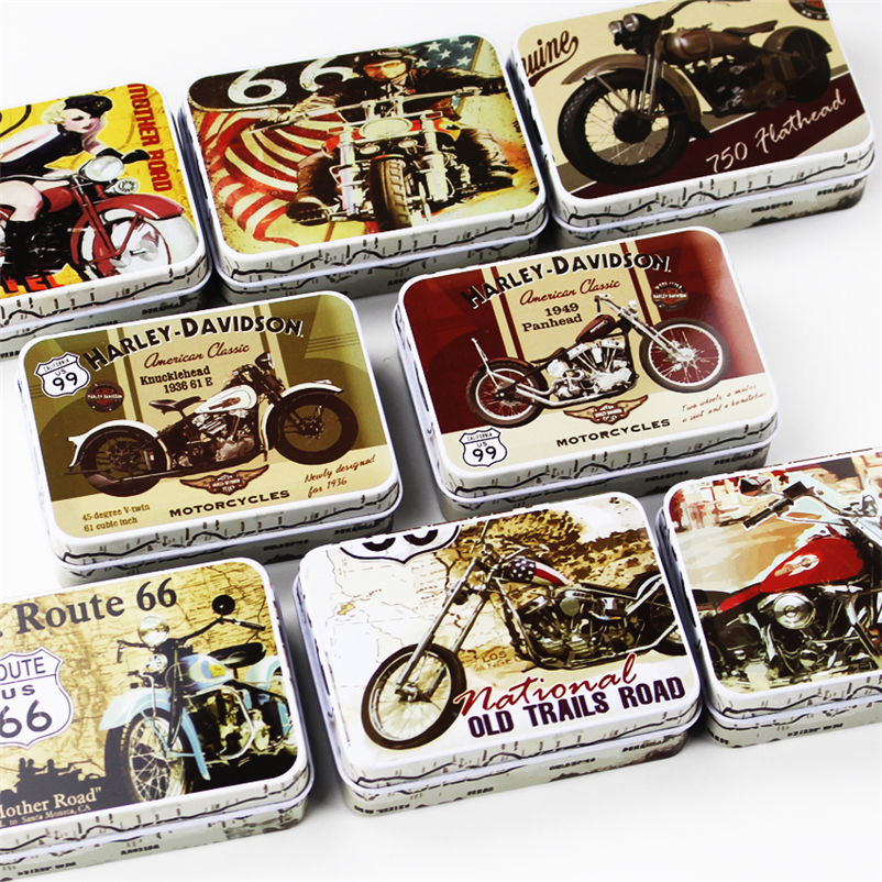 Jewelry Container Drawer Home-Organizer Tin Metal Motorcycle Case Receive-Storage-Box