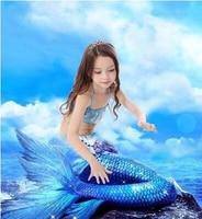 ariel the little mermaid tail princess ariel dress cosplay costume kids for girl fancy green dress swimsuit CM180