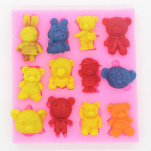 Lovely silicone mold fondant sugar craft DIY chocolate biscuit cake decorating mould grape food grade silicone diy candy ice cake chocolate sugar craft fondant sugar craft mold tray decorating tools non stick