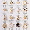 10pcs/lots Golden Alloy Glitter 3D Nail Art Anchor Decorations with Rhinestones,3D Nail Charms,Jewelry on Nails Salon Supplies