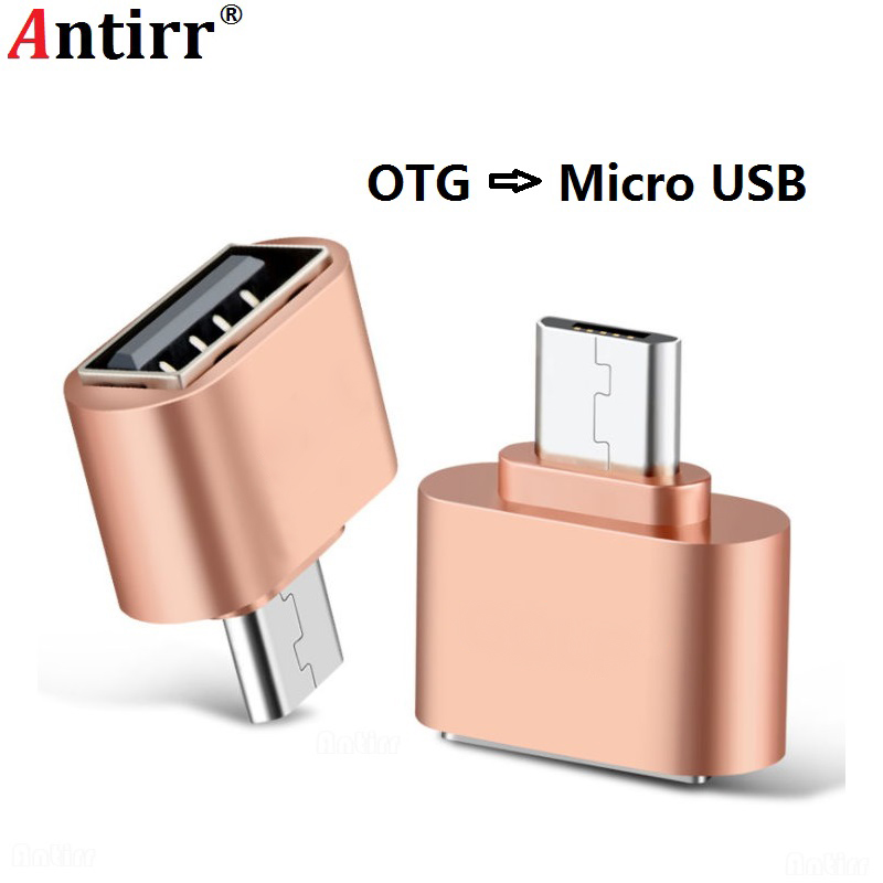 Antirr Micro USB Male To USB Female OTG Adapter 2.0 OTG USB Cable Converter For Tablet Pc Samsung Huawei LG Xiaomi Android Phone