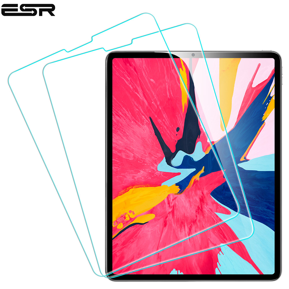 ESR Screen Protector for iPad Pro 12.9 2018 Free Applicator Tempered Glass Film for iPad 2018 New release/For iPad Pro 12.9  New