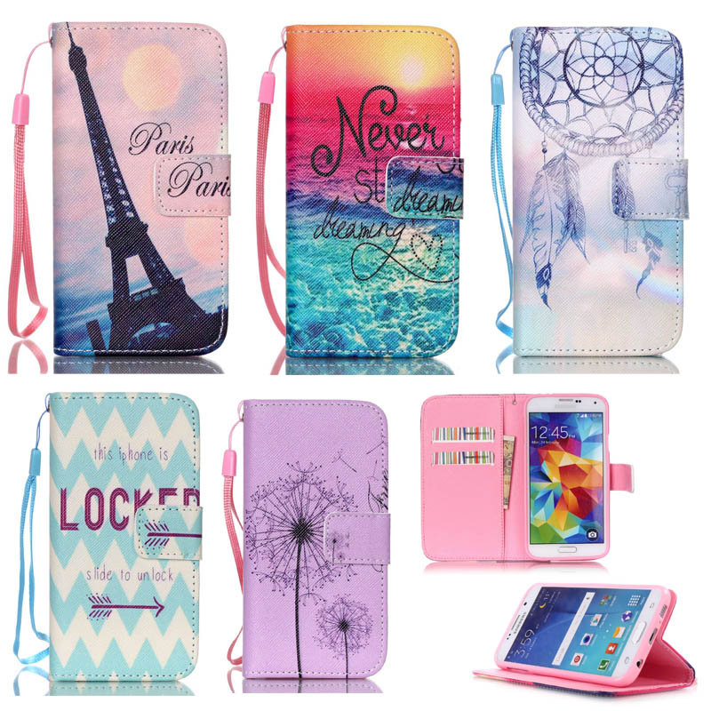 for fundas Samsung S3 mini Case Wallet Style Phone Case for coque Samsung Galaxy S3 mini S3mini i8190 8190 Case Stand Cases