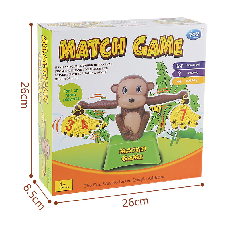 Monkey Early education Balance  Addition and Subtraction Mathematical scale game toy Enlightenment digital