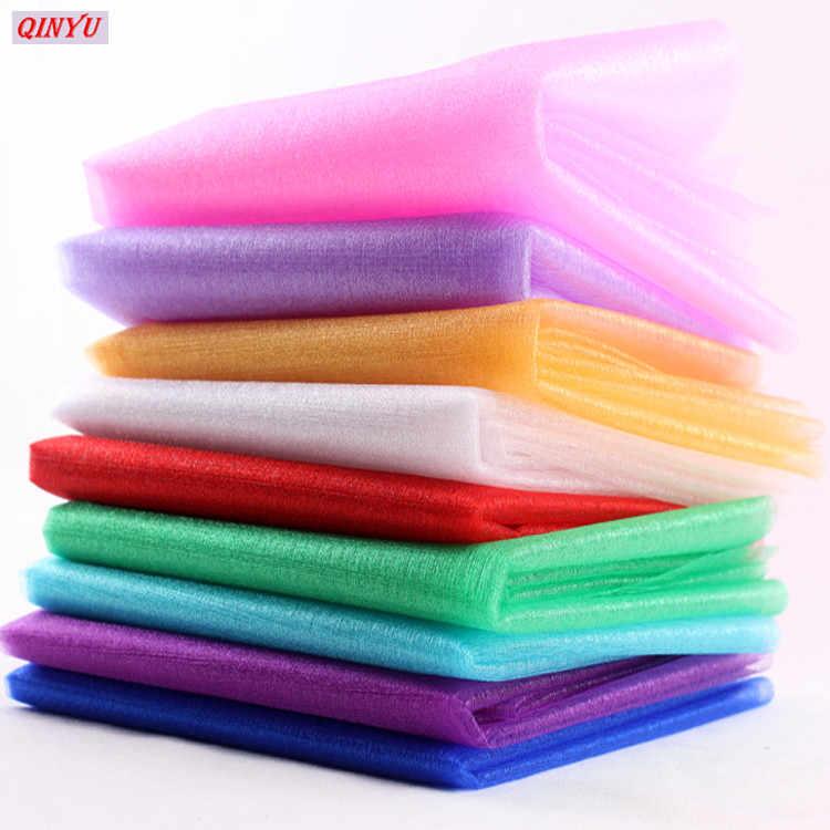 5/10 เมตร Tulle Roll Sheer Organza Tulle สำหรับตกแต่งบ้าน party ทารก DIY Tutu เสื้อ Craft กว้าง 48 ซม. 5z