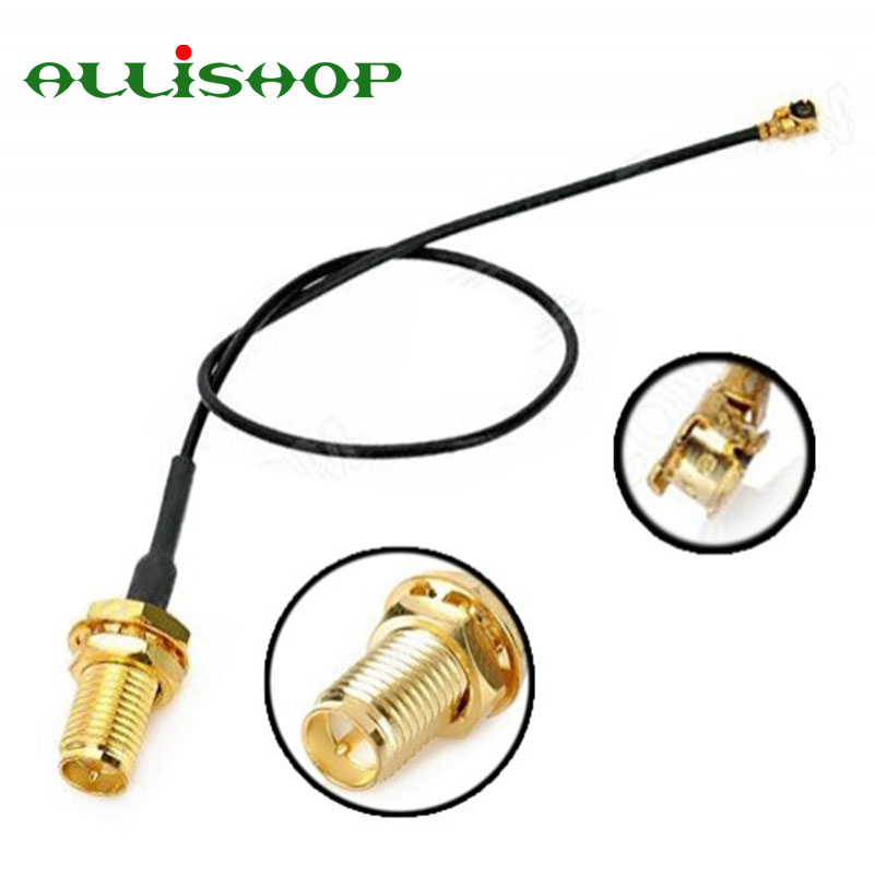 ALLiSHOP 2pcs Wifi router Wireless phone AP Extension pigtail RP SMA female brooches plug to U.FL IPX connector 1.13 cable sale 30cm cable rp sma female bulkhead plug to ipx u fl female 1 13mm pigtail 12in high quality jackplug wire connector adapter