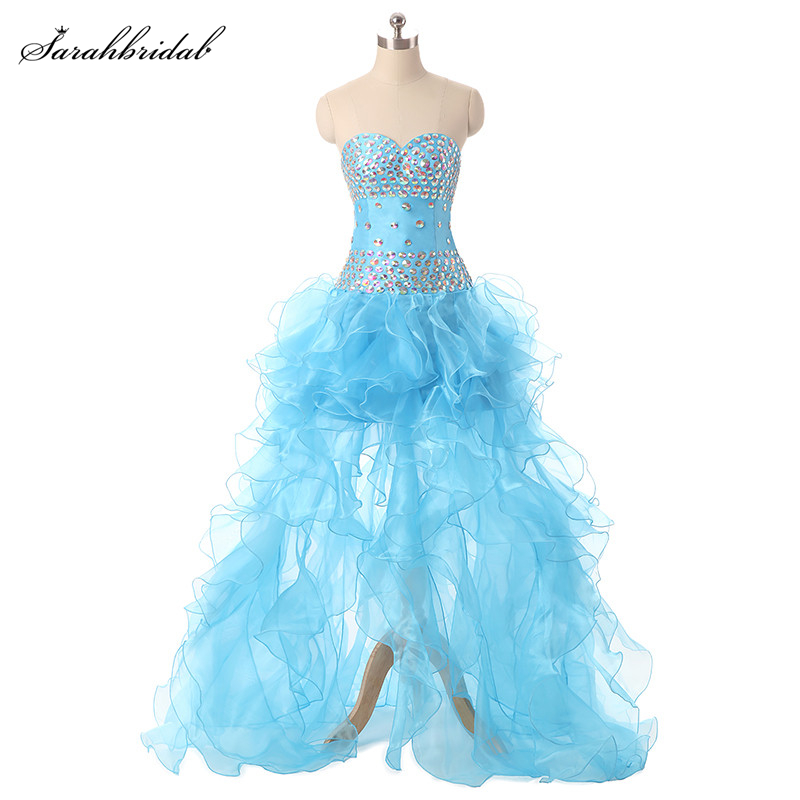 In Stock Spring Summer Sweety Prom Dresses pageant dresses girls with A Line Hi Lo Tulle
