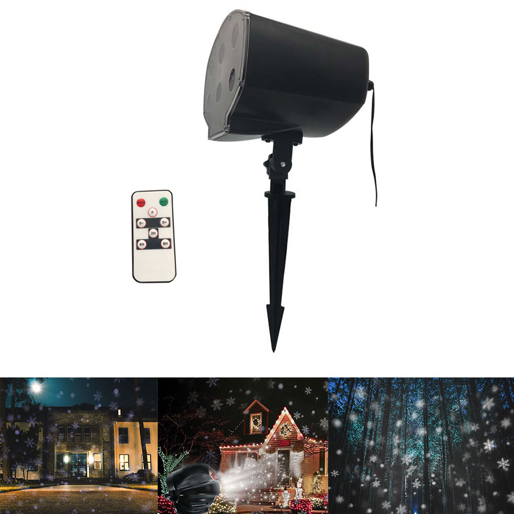 LED Snowflake Projector Light Waterproof Indoor Outdoor Night Lamp for Party Christmas Garden CLH@8 8 types led snowflake projector light waterproof christmas decoration lamp for home xmas lights outdoor indoor garden party