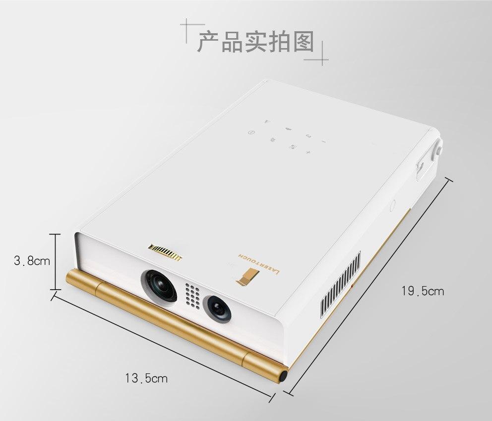 DLP 3D táctil interactiva portátil Mini led Proyector 1080 P