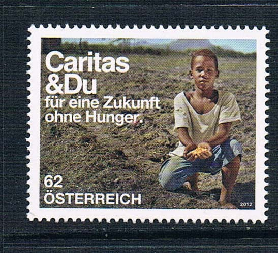 AU1162 Austria 2012 relief African children stamp 1 new 0712 ea1475 uganda 1990 blue butterfly stamp 9 new low face value 0712