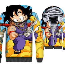 Dragon Ball Z Men 3D Hoodie 2019 Autumn Winter Warm Jacket Thick Long Sleeve Sweatshirts Hoodies Pluse Size Coat M-5XL