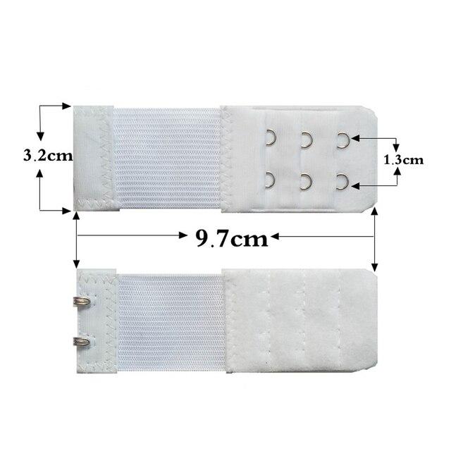 newly 2 Hook Bra Extender For Women's Elastic Bra Extension Strap Hook Clip Expander Adjustable Belt Buckle Underwear