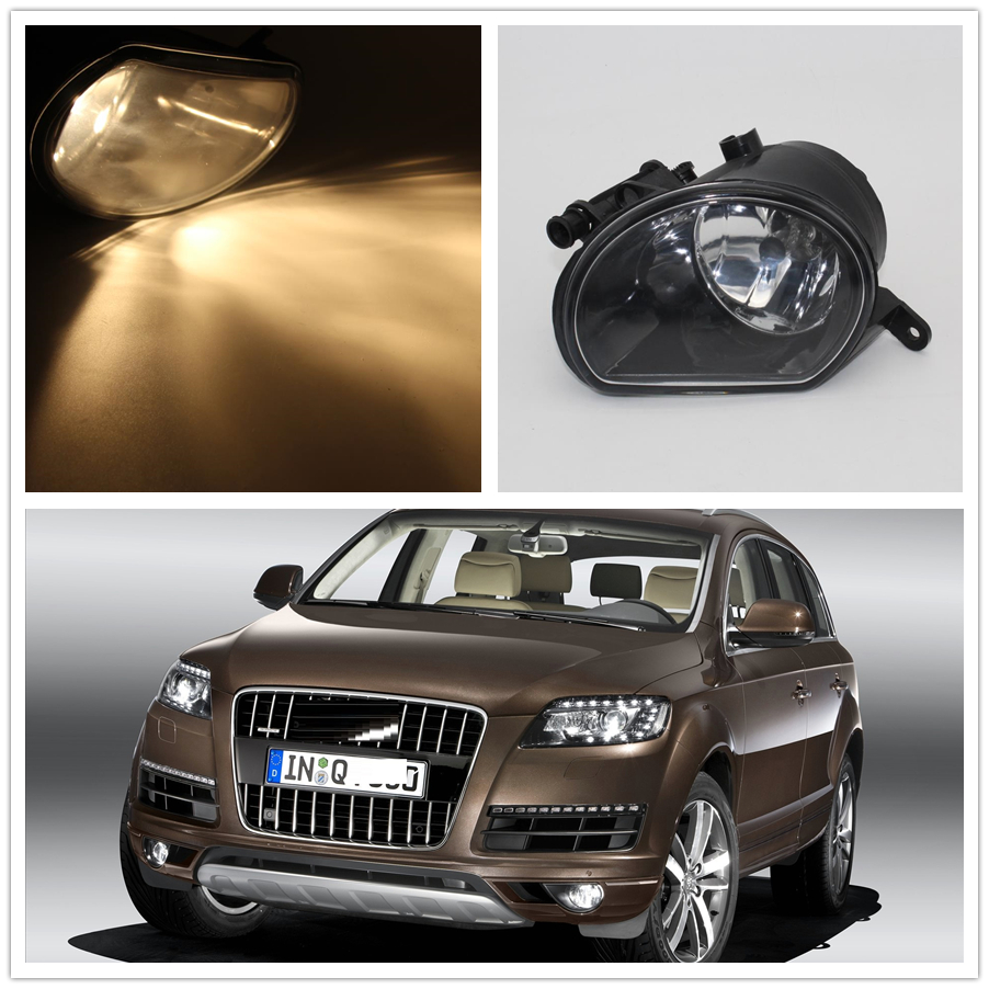 Right Car Light For Audi Q7 2010 2011 2012 2013 2014 2015 Car-styling Front Halogen Bumper Fog Lamp Fog Light Passenger Side front fog lights for nissan qashqai 2007 2008 2009 2010 2011 2012 2013 auto bumper lamp h11 halogen car styling light bulb