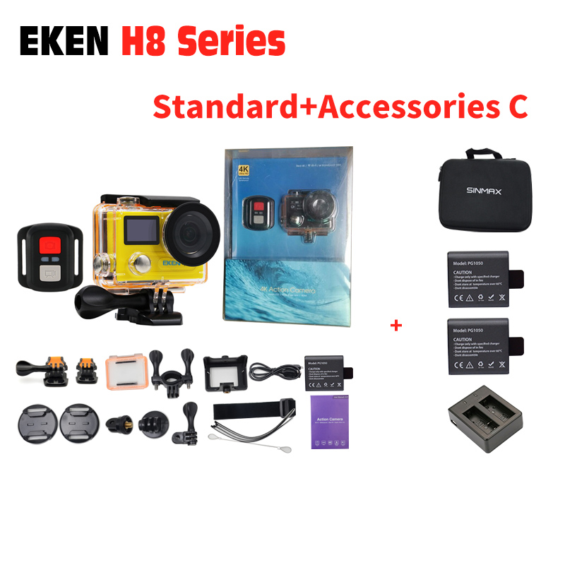 Original Eken H8R/H8 Sport Camera 4k 30fps 1080P/120fps Action Camera 2.0 Ambarella A12 Waterproof Camera extreme Sport DV