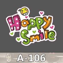 Bevle A-106 Glückliche Lächeln Wasserdicht Mode Kühle DIY Aufkleber Für Laptop Gepäck Skateboard Kühlschrank Auto Graffiti Cartoon Aufkleber