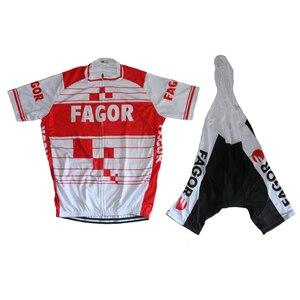 Image 3 - Мужской комплект одежды для велоспорта, шорты с коротким рукавом и гелевой подкладкой, комплект одежды для велоспорта, 2019