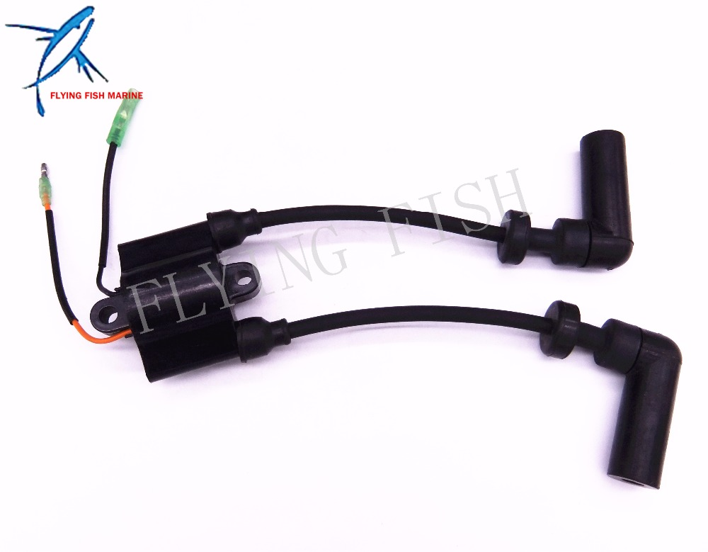 Outboard Ignition Coil 3V1-06040-0 Replace For Tohatsu Motor 8HP 9.9HP 4-Stroke