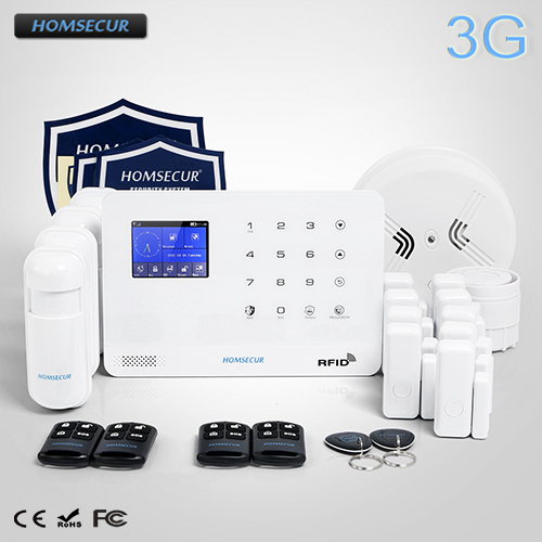 HOMSECUR Wireless LCD 3G/GSM SMS Autodial Home Security Alarm System LA02-3G