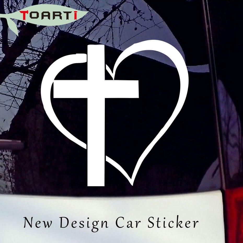 Jesus Cross God Christ Car Sticker Silver Vinyl Decal choose size 4/'/' 8/'/' 20/'/'