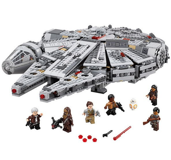 Legoe Compatible Star Wars The Force Awakens Minifigures Forge World Kid Toys Millennium Falcon Building Blocks Bricks 1381PCS