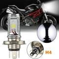Bombillas LED Lámpara de Luz H4 de La Motocicleta Hi/Lo Beam de Ciclomotor Scooter Faros Faro Delantero Bombilla Lámpara Blanca 6000-6500 K DC12