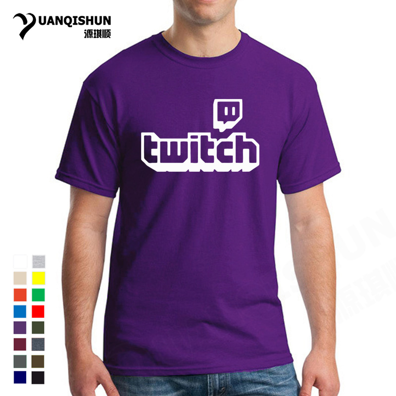 Twitch Tv   T  -  shirt   Purple Gaming Top Gamer Tee Fathers Day Fan Gifts Short Sleeve Men Tops 17 Colors Unisex   T     Shirt   Free Shipping