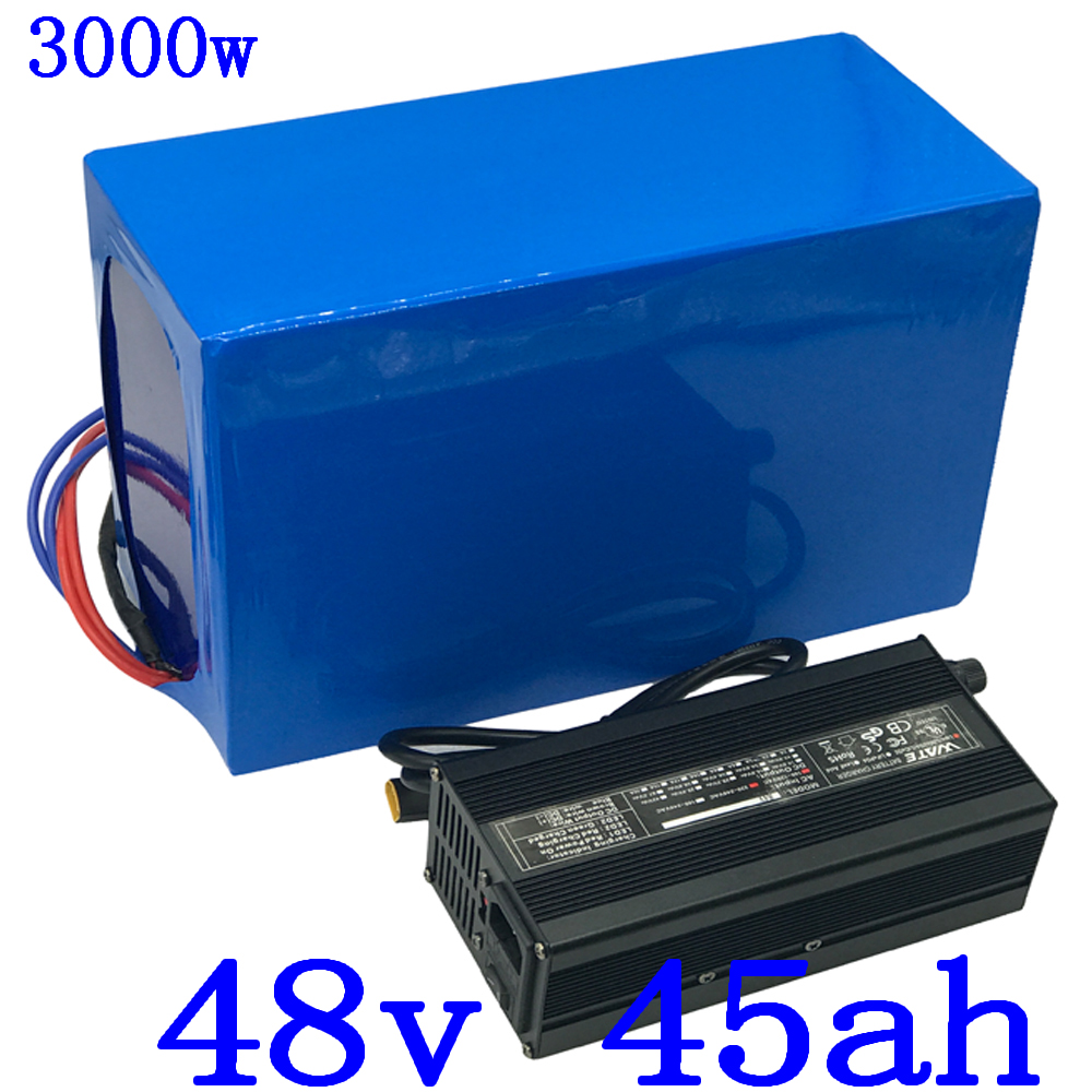 1000W 2000W 3000W 48V Electric Bike Battery 48V 45AH Lithium ion battery Pack use LG cell 48v electric scooter battery+charger1000W 2000W 3000W 48V Electric Bike Battery 48V 45AH Lithium ion battery Pack use LG cell 48v electric scooter battery+charger
