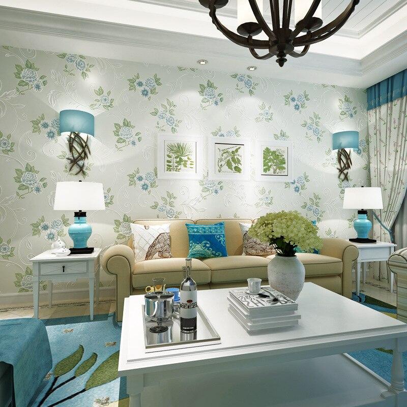 Beibehang papier peint pour murs 3 d HD bronzant chaud européen papier peint pastorale salon chambre fond 3D papier peint rouleau - 4