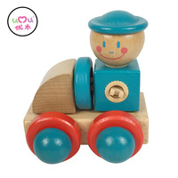 [Umu] mini auto spielzeug für kinder zug kinder fähigkeit hohe qualität umwelt pädagogisches fahrzeug holzspielzeug